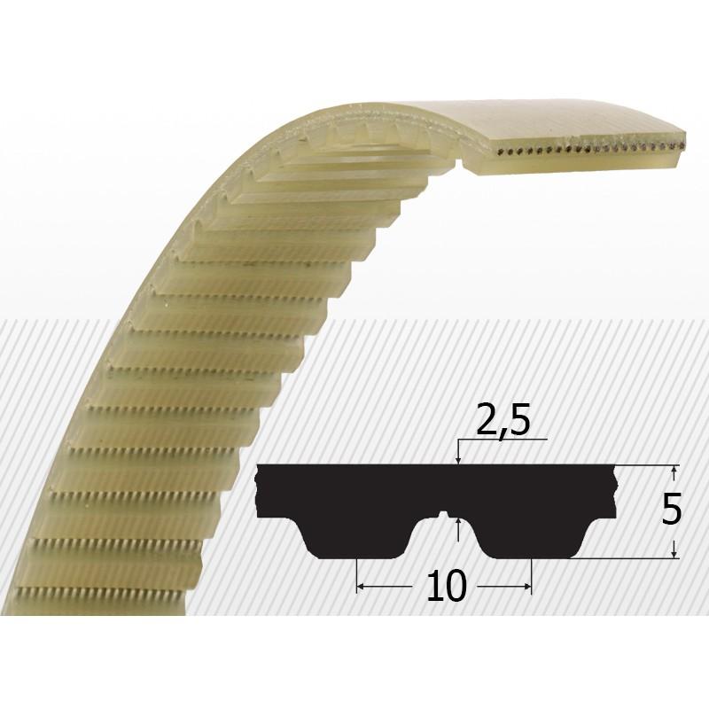 Curea dintata 25AT10 cu latime 25 mm
