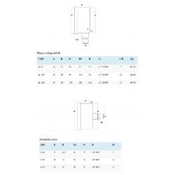 Manometru complet Inox pentru Abur MXX821012