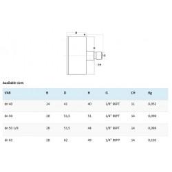 Manometru posterior D63 filet G1/4 MN606314