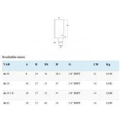 Manometru radial D63 filet G1/4 - MN656314
