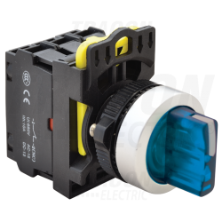NYK3-SL3 Comutator cu braţ luminos,LED, 3 poziţii, albastru