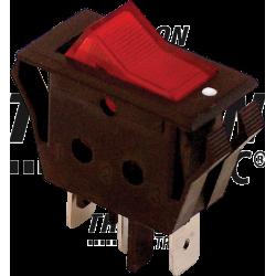 TES-11 Întrerupător pentru aparate, P-O, roşu-iluminat