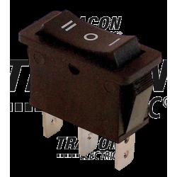 TES-12 Întrerupător pentru aparate,3 poziţii,negru,(marcaj I-0-II )