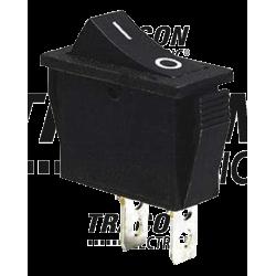 TES-13 Întrerupător pentru aparate, P-O, negru,(marcaj 0-I )
