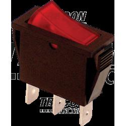 TES-21 Întrerupător pentru aparate, P-O, roşu-iluminat