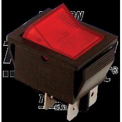 TES-41 Întrerupător pentru aparate, P-O, 2 poli, roşu-iluminat