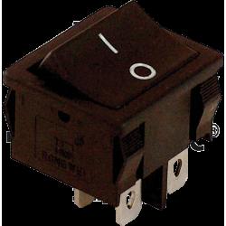 TES-51  Întrerupător pentru aparate,P-O, 2 poli, negru, (marcaj 0-I)