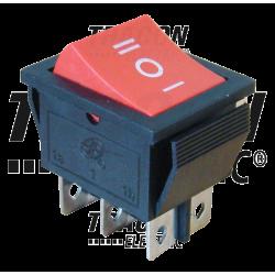 TES-52  Comutator ptentru aparate,3 poziţii,2 poli, roşu,(marcaj I-0-II)