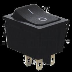 TES-53  Întrerupător pentru aparate,P-O, 2 poli, negru, (marcaj 0-I)
