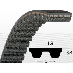 Curea dintata HTD 5M cu latime 25 mm