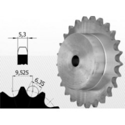 06B-2 Roata dubla dintata cu butuc pt lant
