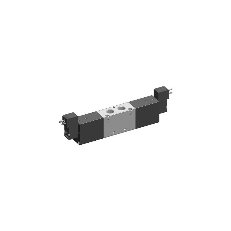G1/4 Electroventil 5/3, centrul deschis, cu doua bobine, 22mm, 24V