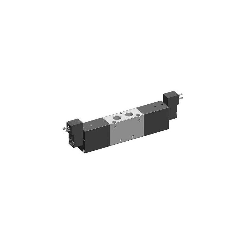 G1/4 Electroventil 5/3, centrul sub presiune, cu doua bobine, 22mm, 24V