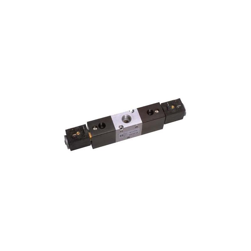 G1/4 Electroventil 3/2, bistabil, pilotare separata, actionat electric cu 2 bobine, revenire electro-pneumatica