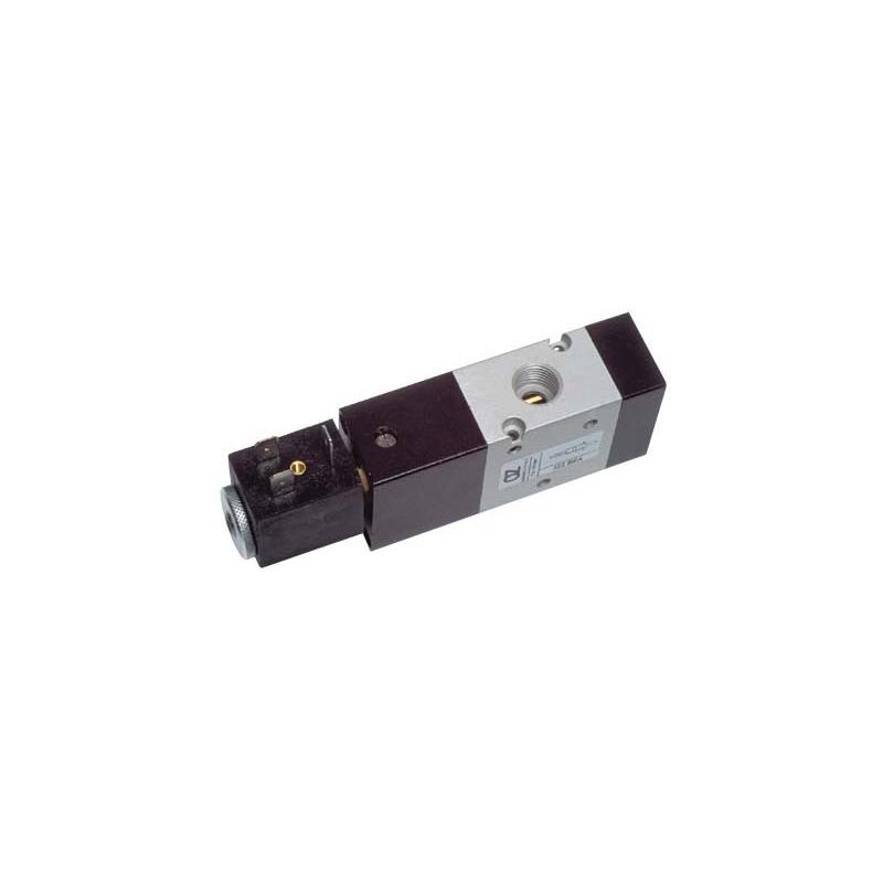 Electroventil 3/2, monostabil, actionat electric cu 1 bobina, revenire arc