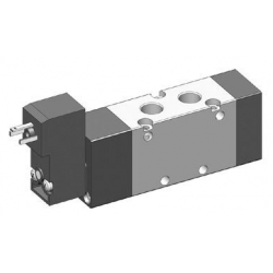 Electroventil 5/2, monostabil, actionat electric cu 1 bobina, revenire arc , pilot 15mm