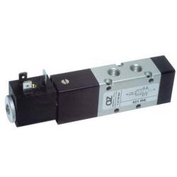 Electroventil 5/2, monostabil, actionat electric cu 1 bobina, revenire arc