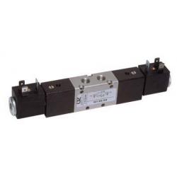 Electroventil 5/2, bistabil, actionat electric cu 2 bobine, pilotare externa