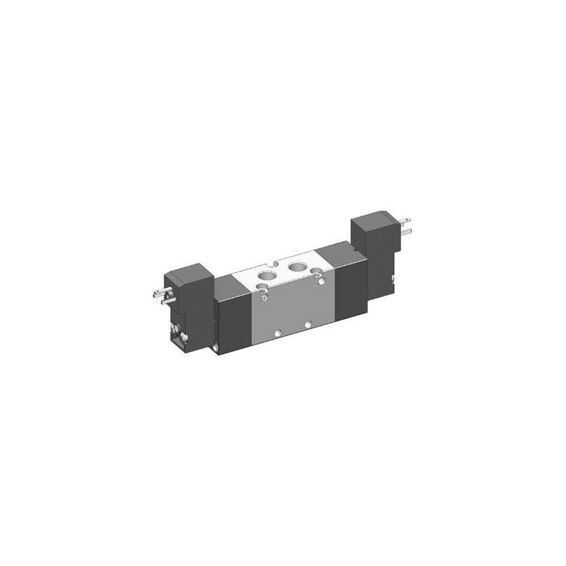Electroventil 5/2, bistabil, actionat electric cu 2 bobine, pilot 15mm