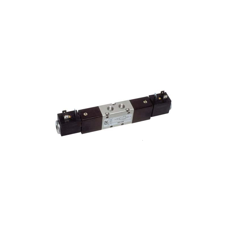 ELECTROVENTIL 5/2, BISTABIL, ACTIONAT ELECTRIC CU 2 BOBINE, REVENIRE ELECTRO-PNEUMATICA