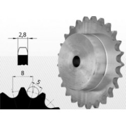 Roata dintata cu butuc pt lant 05B-1