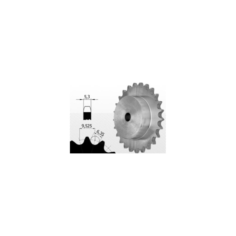 Roata dintata cu butuc pt lant 06B-1