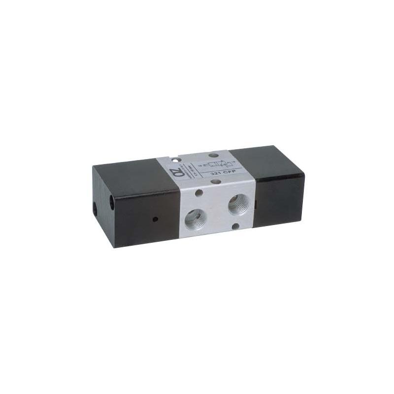 Ventil 3/2, bistabil, actionat pneumatic, pilotare interioara pneumatica