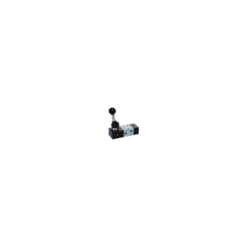 G1/8 Distribuitor levier 90°, revenire pneumatica