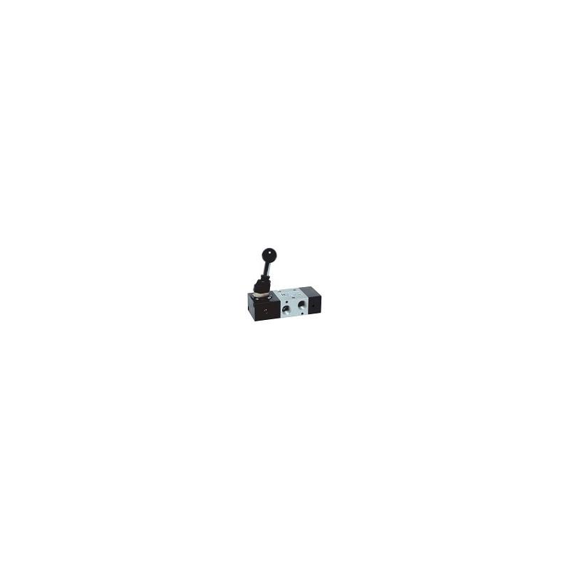 G1/4 Distribuitor levier 90°, revenire pneumatica