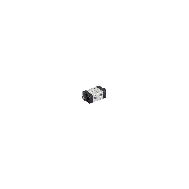 G1/8 22mm Distribuitor actionat mecanic, bistabil, dublu buton